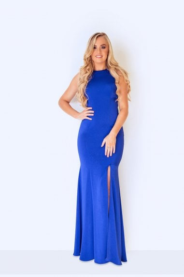 Luyu Royal Blue Maxi Dress
