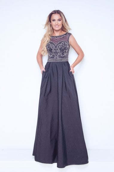 Myra Navy Ball Gown
