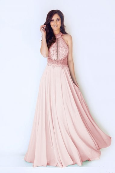 Adoette Peach Maxi Dress