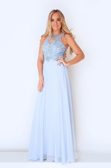 Aiyanna Ice Blue Maxi Dress