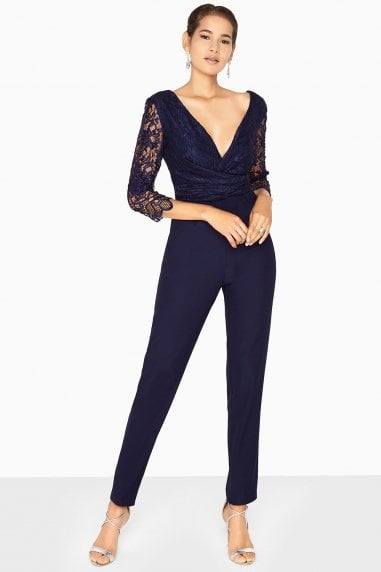 Leah Gathered Lace Jumpsuit