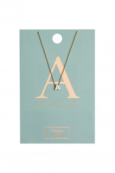 Orelia Gold Plated Initial A Necklace