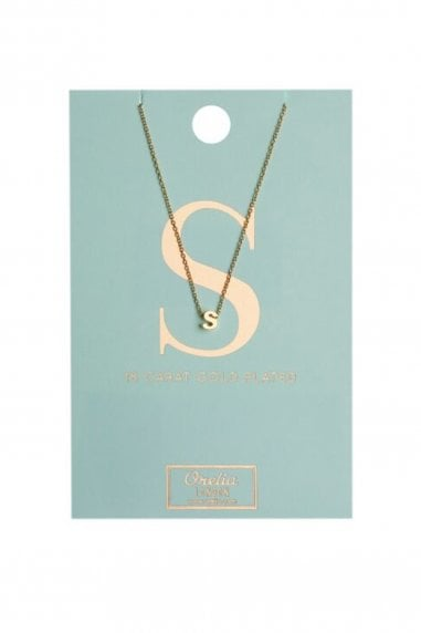 Orelia Gold Plated Initial S Necklace
