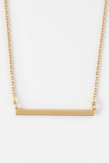 Orelia Gold Plated Horizontal Bar Necklace
