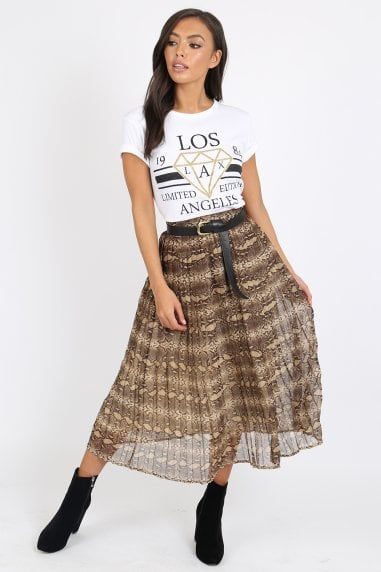 Jax Snake Pleat Skirt