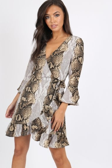 Spell Snake Wrap Dress