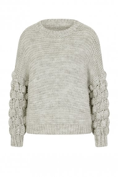 Everett Grey Bobble Jumper