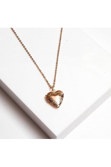 Gracie Heart Locket Necklace 48cm