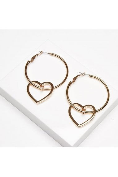 Hallie Heart Hoop Earrings