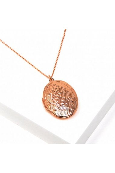 Rose Gold Oval Locket Necklace