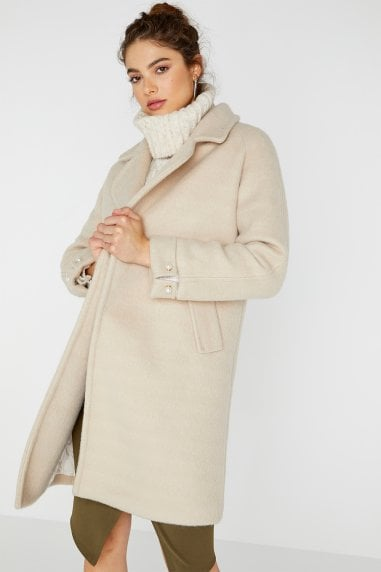 Pearl Detail Coat