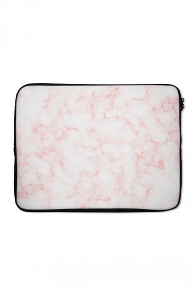 Peach Marble Print Laptop Sleeve 15""