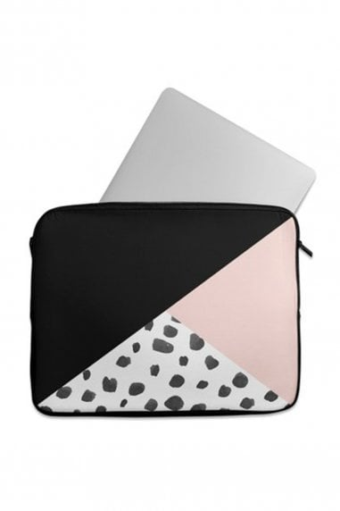Geometric Dalmation Print Laptop Sleeve 15""