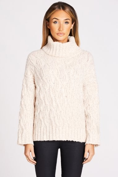 Oatmeal Cable-Knit Jumper