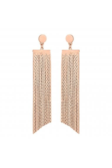 Rose Gold Chain Drop Statement Earrings