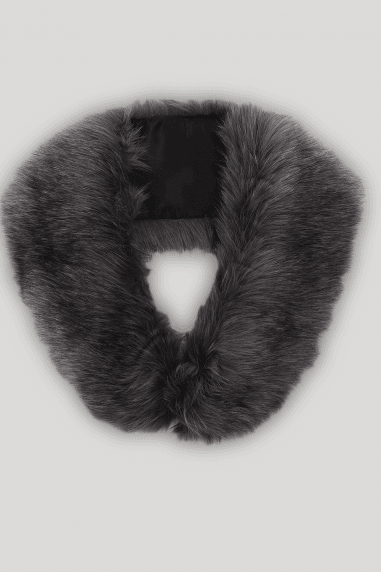Grey Fur Stole Collar