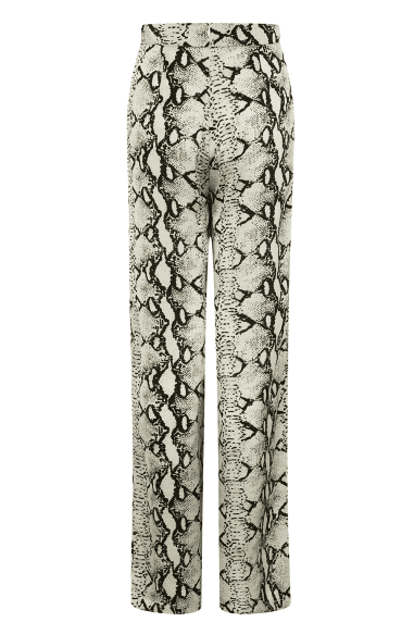 Dupre Wide Leg Trousers In Snake