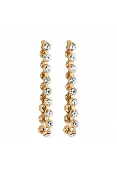 Gold Crystal Looped Statement Earrings