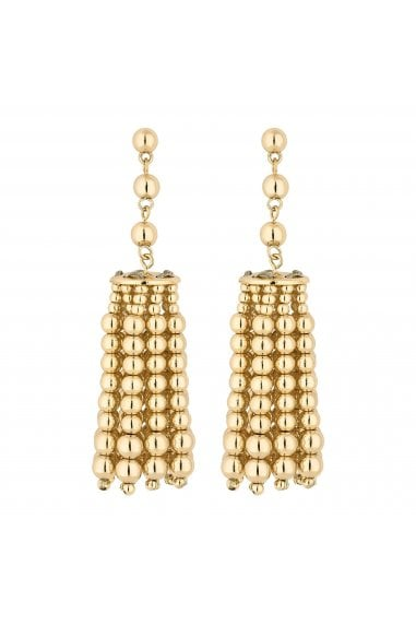 Gold Charm Drop Earrings