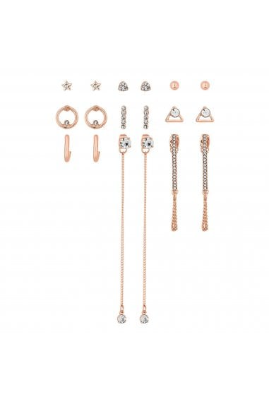 Rose Gold Crystal Earring Set