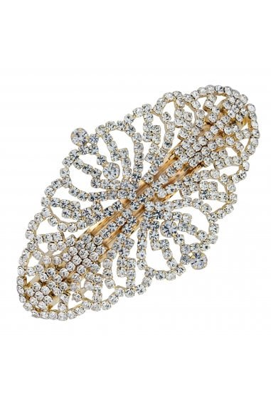 Gold Crystal Ornate Hair Clip
