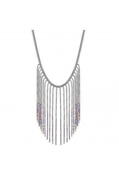 Aurora Borealis Crystal Waterfall Necklace