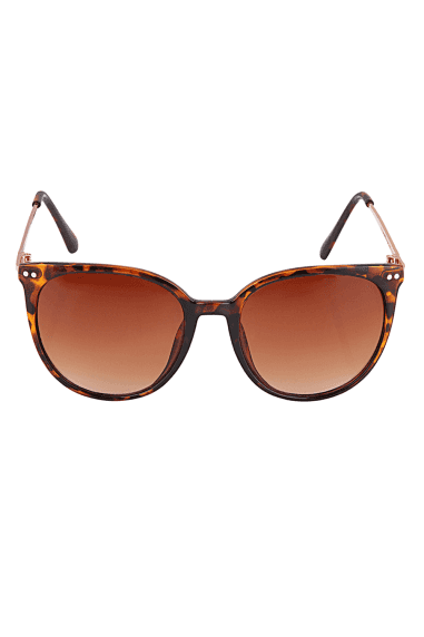 Round Sunglasses In Tortoiseshell