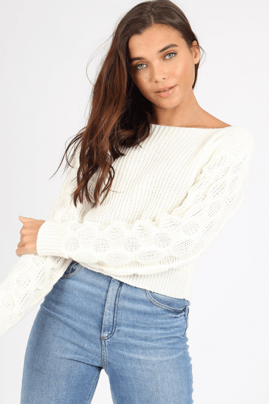 Mateo Cream Knitted Jumper