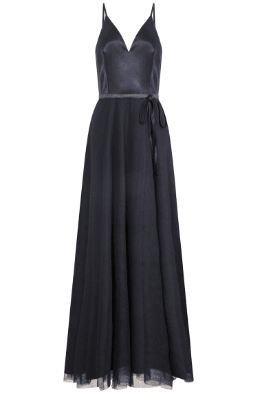 Therese Navy Plunge Maxi Dress