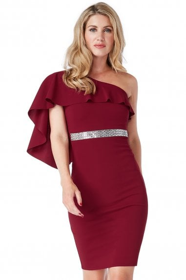 d6996996151 Off The Shoulder Flair Midi Dress. Goddiva ...