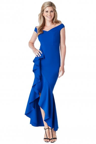 Off The Shoulder 360 Frill Maxi Dress