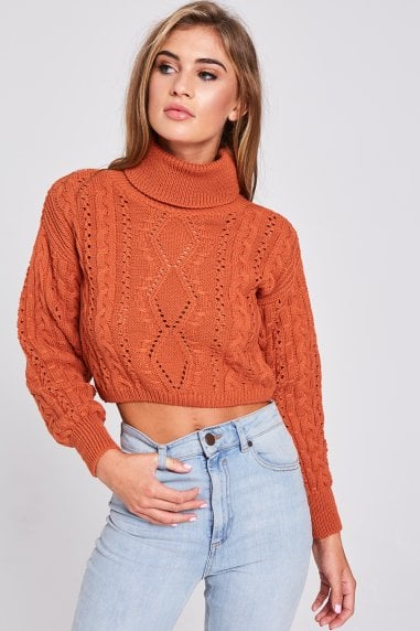 Alpha Tan Cable-Knit Jumper