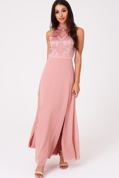 Ginnie Apricot Embroidery Maxi Dress