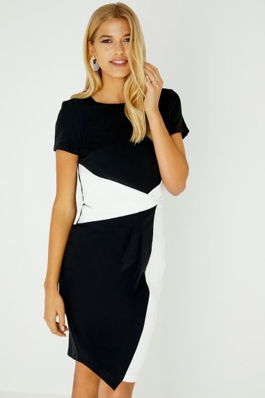 Habra Colour Block Bodycon Dress