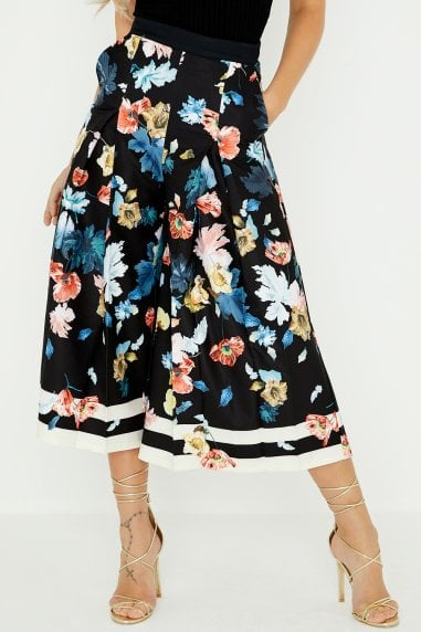 Rossy Floral Stripe Midi Trousers