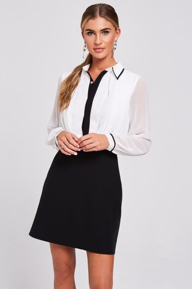 Mirada Monochrome Shirt Dress