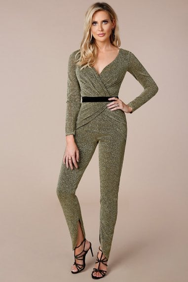 Stephanie Pratt Lurex Cross Over Jumpsuit