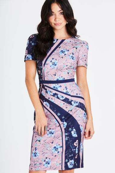 Arlie Ditsy Floral Pencil Dress