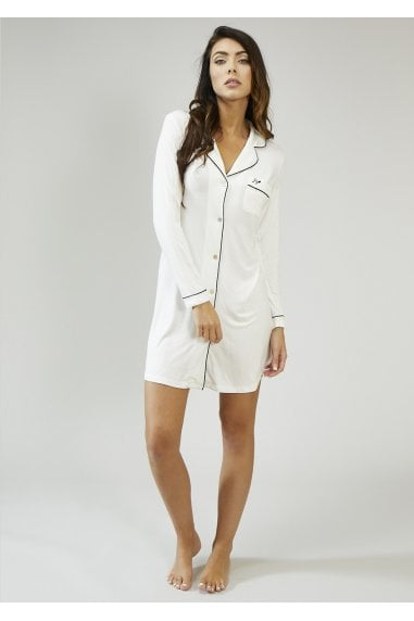White Bamboo Nightshirt