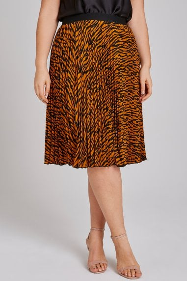 Tiger Pleat Midi Skirt