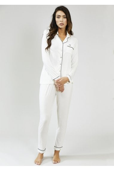 White Bamboo Trouser Set