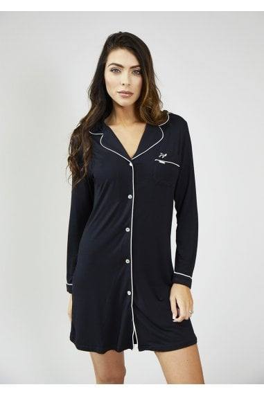 Black Bamboo Nightshirt