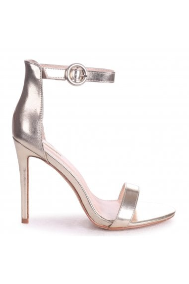 Nena Gold Nappa Barely There Heels