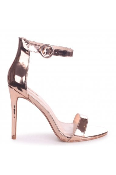 Nena Rose Gold Nappa Barely There Heel