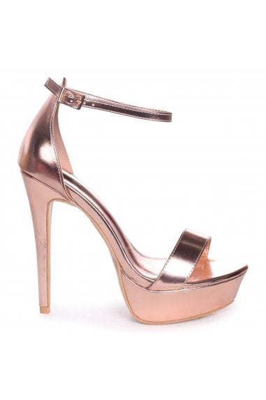 Alesha Rose Gold Nappa Platform Stiletto Heel