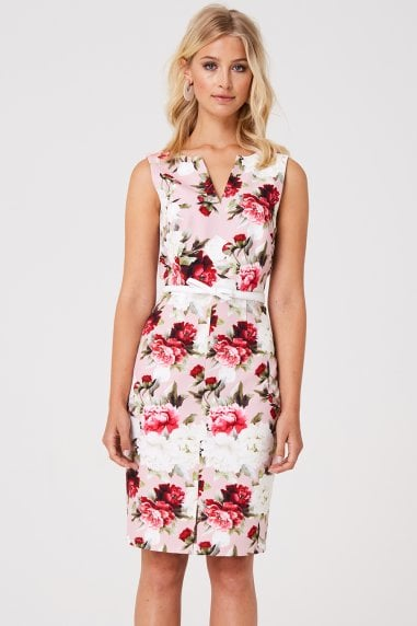Barclay Pink Floral Pencil Dress