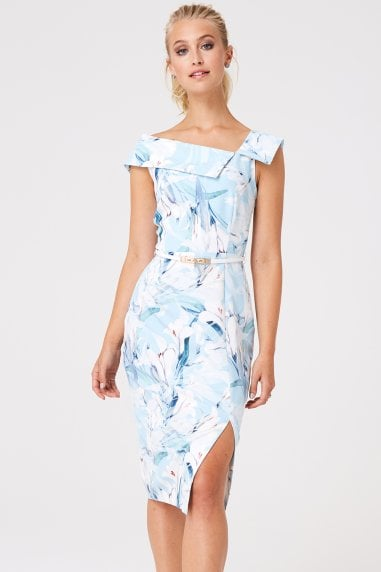 Mews Lily Floral Midi Pencil Dress