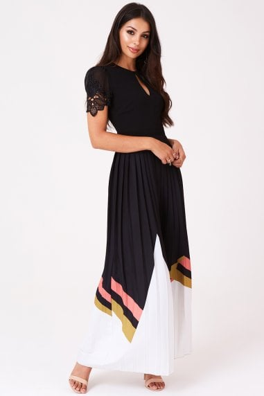 Sonia Geo-Print Pleat Maxi Dress