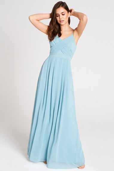 Endlessly Sage Chiffon Maxi Dress