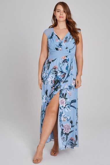 Rori Blue Floral Maxi Dress